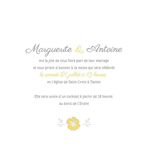 Faire-part de mariage Couronne champêtre (4 pages) blanc ocre - Page 3