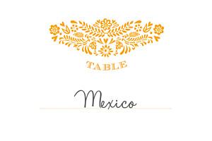 Marque-table mariage Papel picado soleil