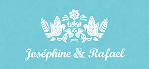 Etiquette de mariage Papel picado turquoise