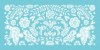 Marque-place mariage Papel picado turquoise