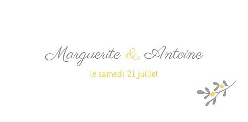 Marque-place mariage Couronne champêtre blanc ocre - Page 4