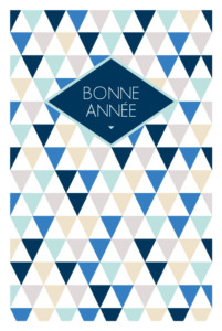 Carte de voeux Triangles photo bleu