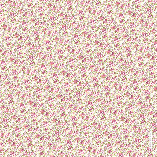 Faire-part de naissance Liseré liberty (4 pages) rose