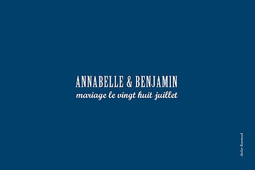 Marque-table mariage Le plus beau jour bleu roi - Page 2