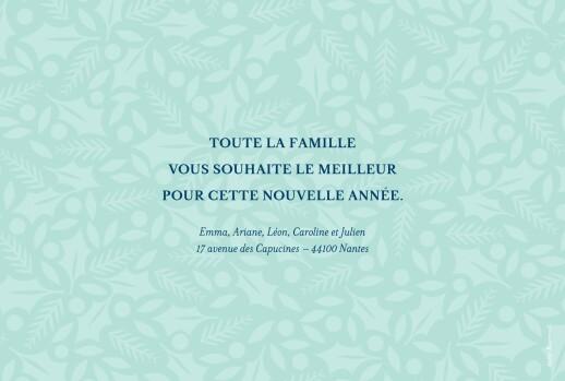 Carte de voeux Joli houx vert clair & bleu nuit - Page 2