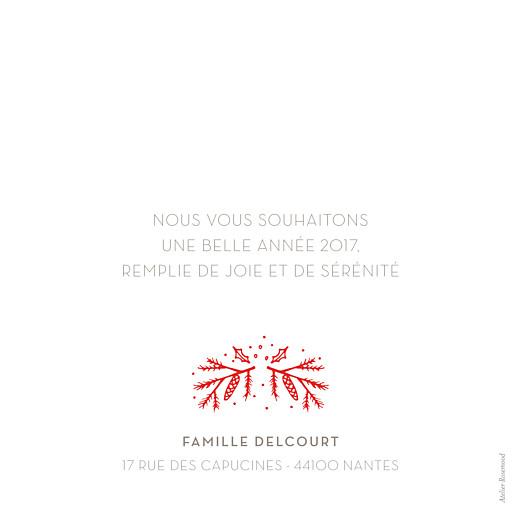 Carte de voeux Bouquet rouge blanc & rouge