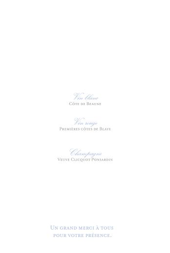 Menu de baptême Vichy bleu - Page 2