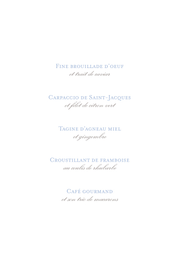 Menu de baptême Vichy bleu - Page 3