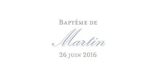 Marque-place Baptême Vichy bleu - Page 4