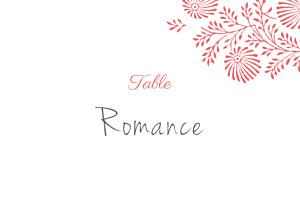 Marque-table mariage orange idylle corail