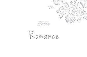 Marque-table mariage Idylle gris
