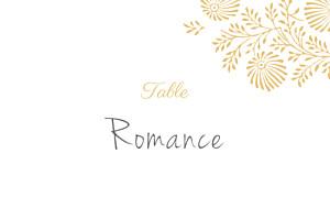Marque-table mariage Idylle pollen