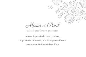 Carton d'invitation mariage gris idylle (paysage) gris