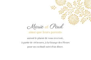 Carton d'invitation mariage Idylle (paysage) pollen