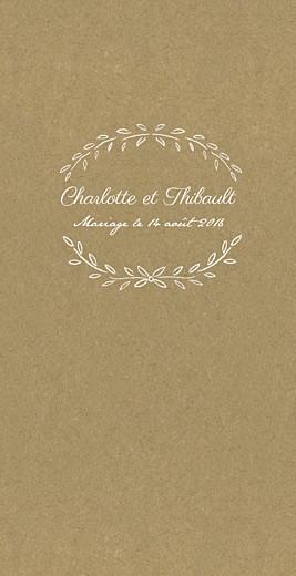 Menu de mariage Poème (4 pages) kraft