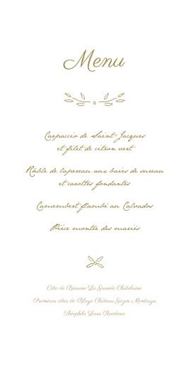 Menu de mariage Poème (4 pages) kraft - Page 3