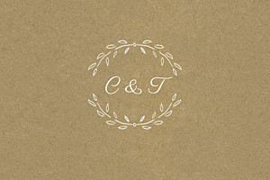 Carton réponse mariage marron poème kraft