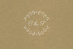 Carton réponse mariage Poème kraft