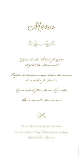 Menu de mariage Poème kraft - Page 2