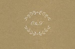 Carton d'invitation mariage Poème kraft