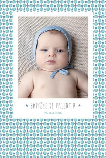 Menu de baptême Capri bleu
