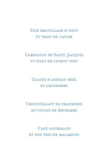 Menu de baptême Capri bleu - Page 3