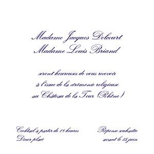 Carton d'invitation mariage Élégant blanc
