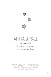 Save the Date Coeurs cappuccino