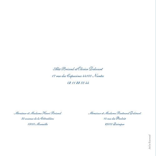 Faire-part de mariage Chic liseré bleu - Page 4