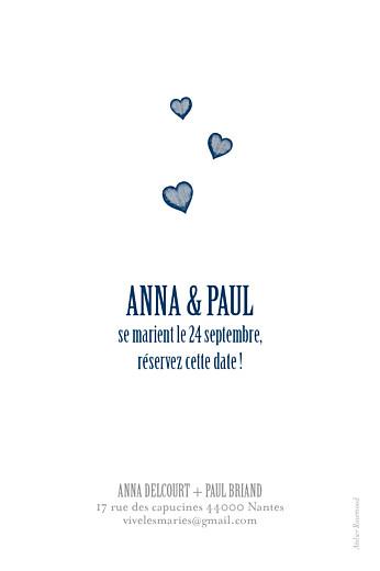 Save the Date Coeurs bleu marine - Page 2