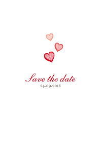 Save the Date Coeurs rouge