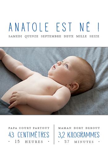 Faire-part de naissance À la une ! (4 pages) blanc