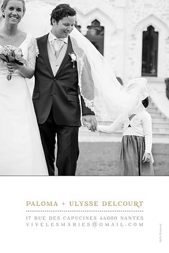 Carte de remerciement mariage La vie est belle ! blanc - Page 2