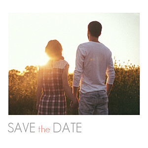Save the date moderne photo blanc