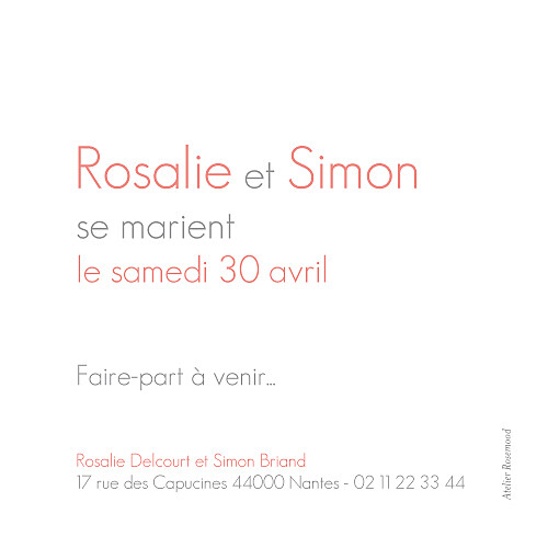 Save the Date Moderne photo blanc - Page 2