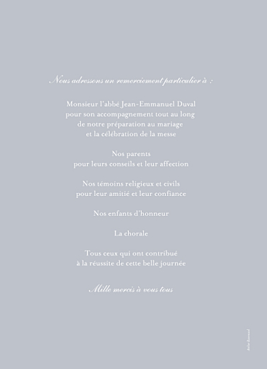 Livret de messe mariage Colombe gris - Page 4