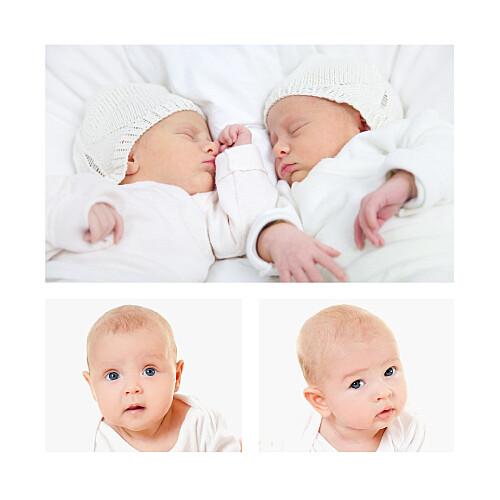 Faire-part de naissance À bicyclette jumeaux photos corail - Page 2