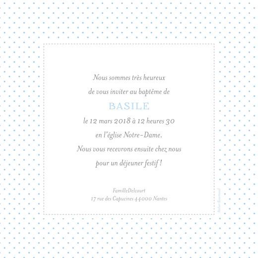 Faire-part de baptême Pois chics bleu - Page 2