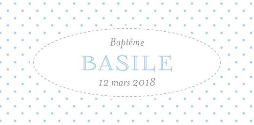 Marque-place Baptême Pois chics bleu - Page 4