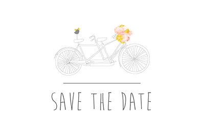 Save the Date Tandem rose ocre finition