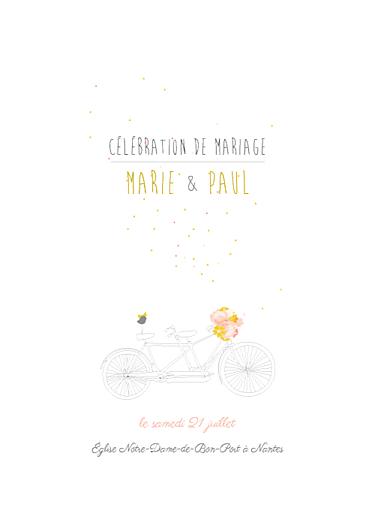 livret de messe mariage tandem rose ocre - Exemple Remerciement Livret De Messe Mariage