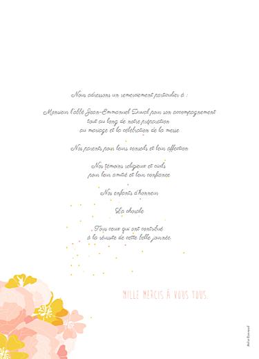 Livret de messe mariage Tandem rose ocre - Page 4