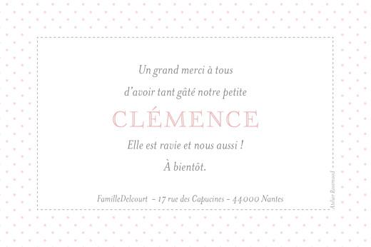 Carte de remerciement Merci pois chics paysage rose - Page 2