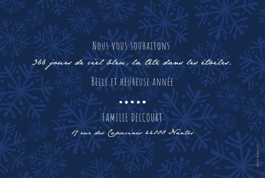 Carte de voeux Neige blanc& bleu marine - Page 2