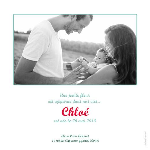 Faire-part de naissance Folk photo bleu - Page 2