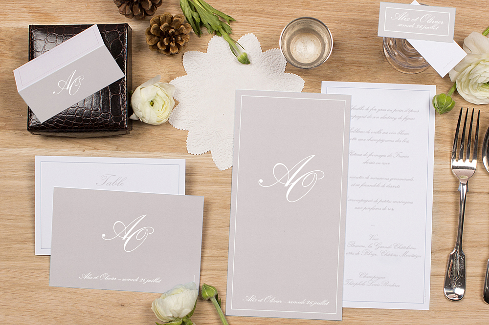 Marque place mariage chic liser atelier rosemood - Mariage marque place ...