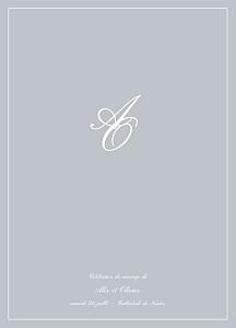 Livret de messe mariage gris chic liseré gris clair