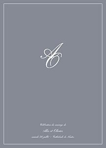 Livret de messe mariage classique chic liseré gris foncé