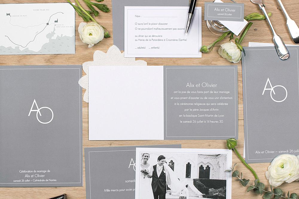 livret de messe mariage chic liser gris fonc - Exemple De Livret De Messe Mariage