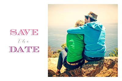 Save the Date Le plus beau jour blanc finition